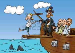 walking-the-plank-sharks-in-the-sea